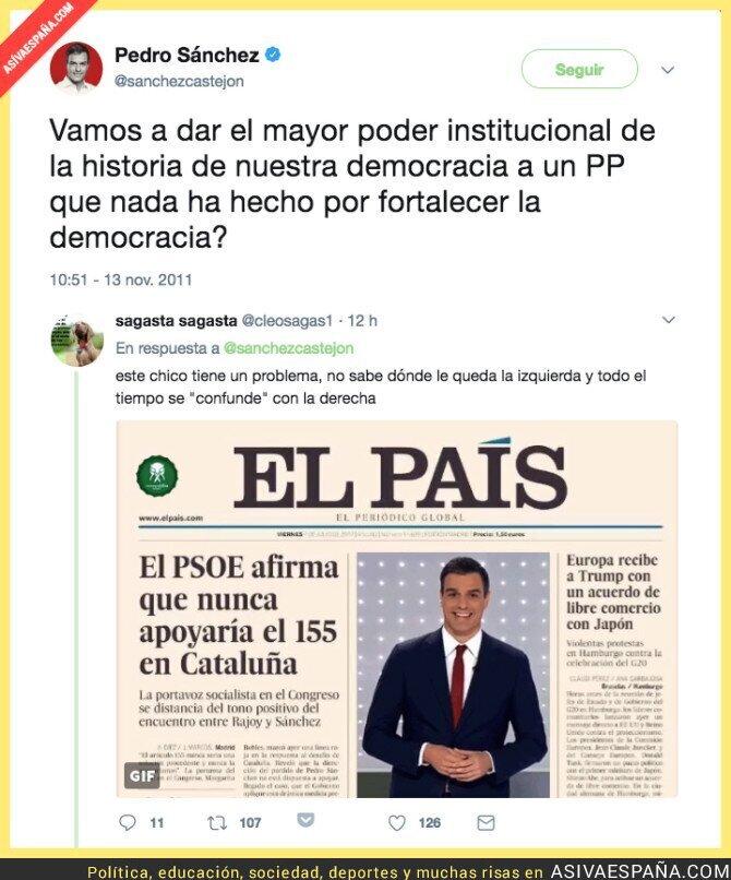 77534 - El tuit de 2011 que deja RETRATADO a Pedro Sánchez y deja en evidencia al PSOE -otra vez-