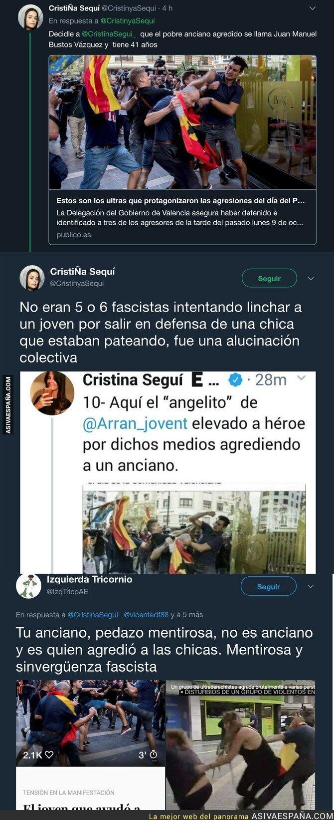 77634 - Cristina Seguí manipulando descaradamente con los nazis de Valencia
