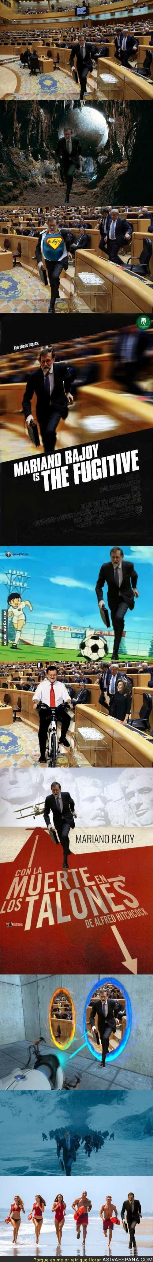 78547 - Mariano Rajoy sale corriendo del Senado e internet se llena de memes