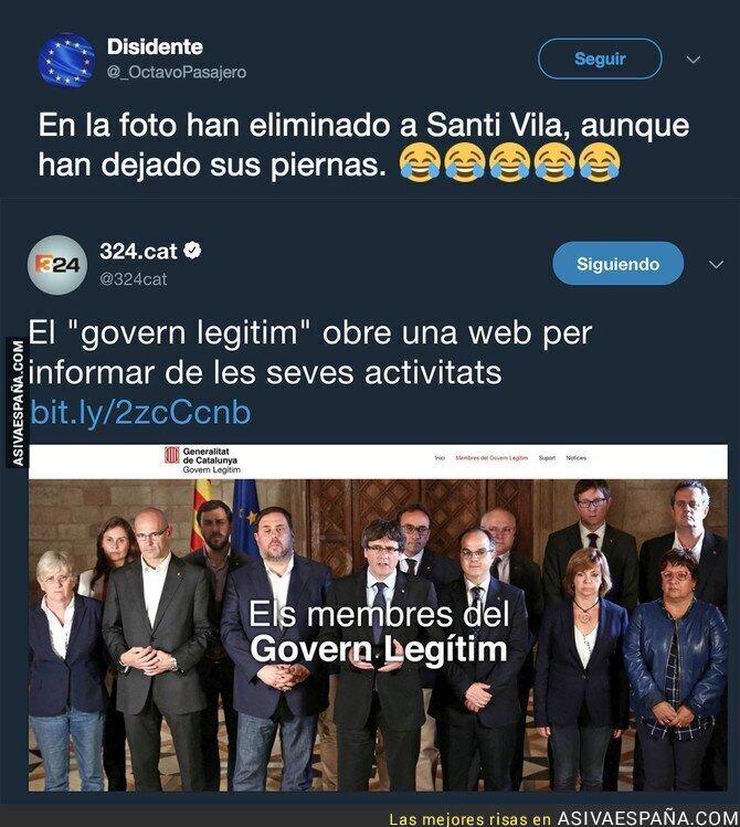 78989 - El gobierno destituido de Puigdemont abre una web y todos se están riendo por este detalle en la foto