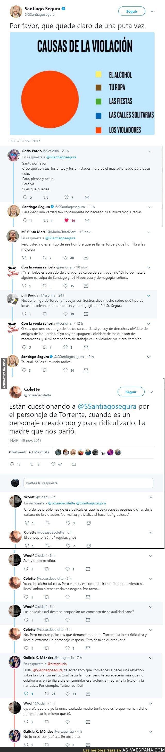 79023 - Polémica contra Santiago Segura por denunciar las violaciones y hacer Torrente