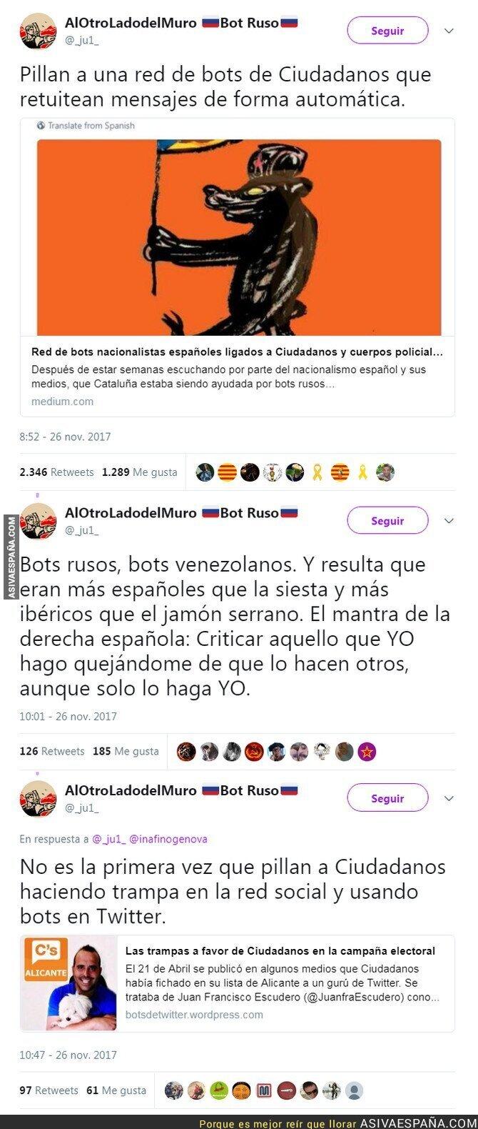 79346 - Destapan una red de bots de Ciudadanos