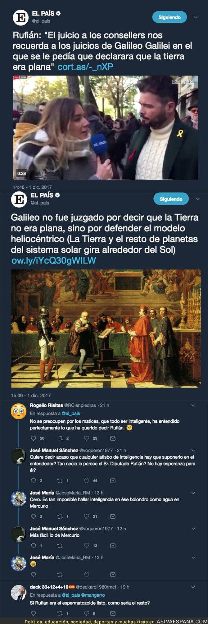 79556 - Gabriel Rufián hace un ridículo monumental diciendo esto sobre el juicio de Galileo Galilei