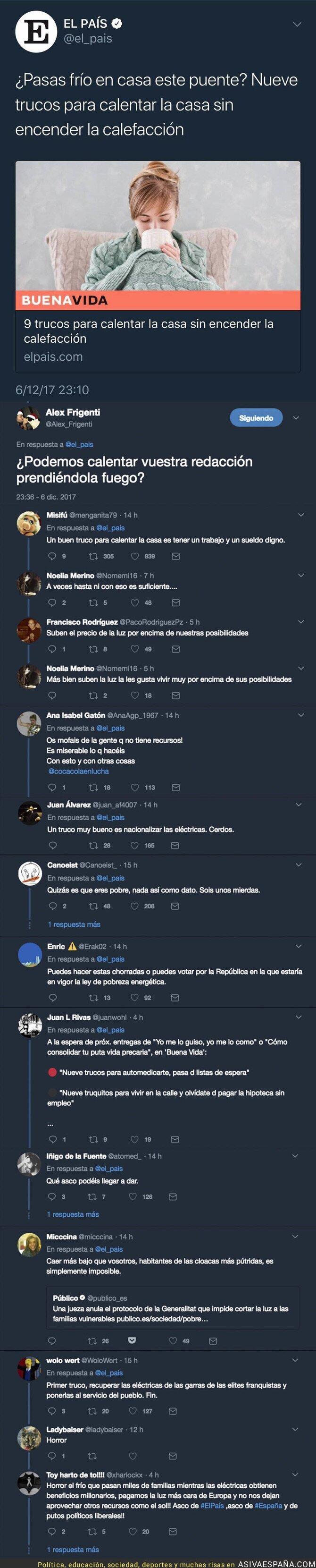 79780 - 'El País' crea gran polémica con esta noticia sobre la calefacción a quienes no pueden pagarla