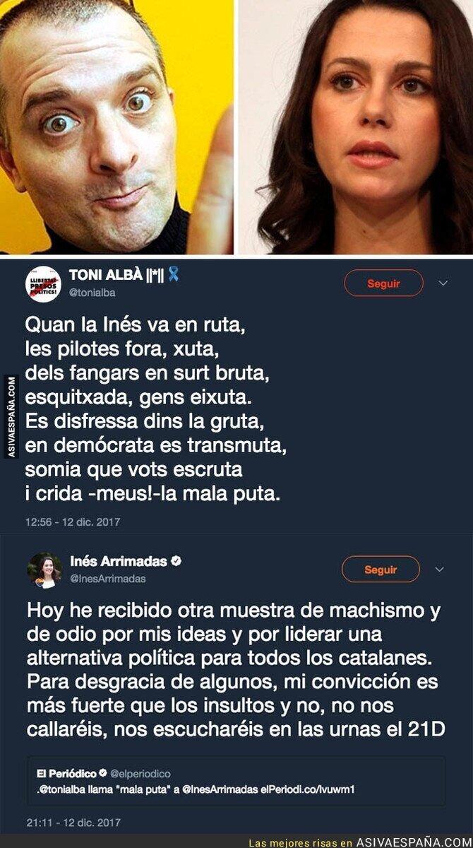 80034 - Toni Albà insulta a una tal 'Inés' por Twitter e Inés Arrimadas se da por aludida