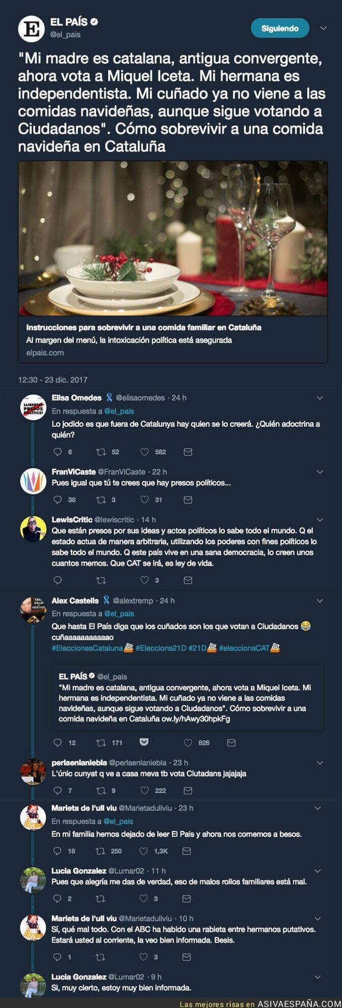80537 - 'El País' la vuelve a liar hablando sobre la cena de Navidad en Catalunya