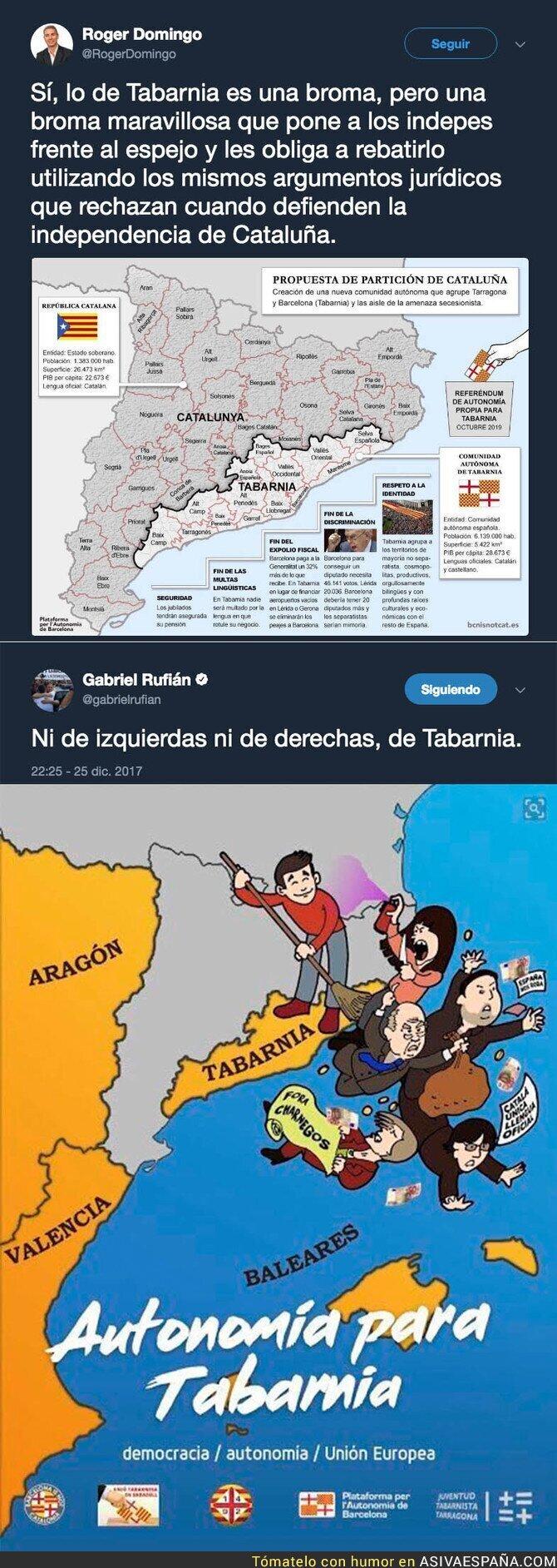 80614 - Tabarnia, la nueva provincia de España que no se reconoce con el independentismo