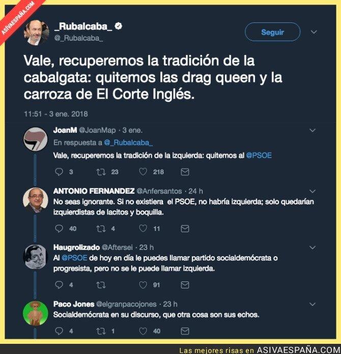 80957 - La solución a las cabalgatas de Madrid según Rubalcaba