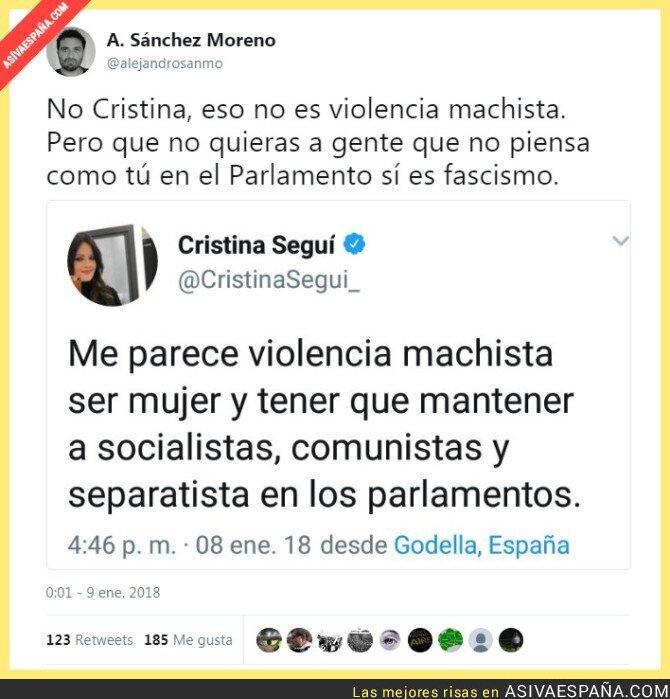 81211 - Cristina Segui de nuevo marcándose un tanto de ridiculez suprema
