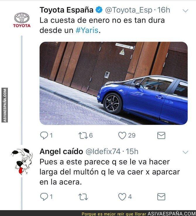 81313 - Toyota hace publicidad de su coche y se lleva una humillante respuesta