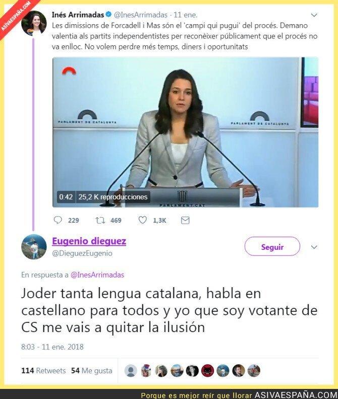 81348 - Inés Arrimadas lanza un tuit en catalán y...