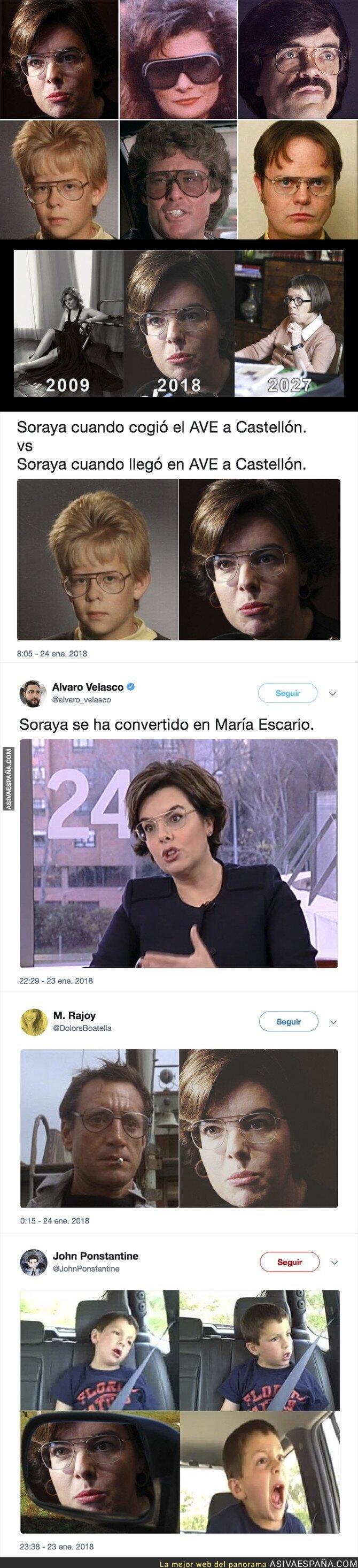 81858 - Soraya Sáenz de Santamaría sorprende con su look e internet se llena de memes