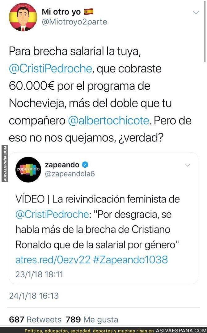 81915 - Cristina Pedroche se queja de la brecha salarial entre hombres y mujeres y sale a la luz lo que cobró ella en Nochevieja