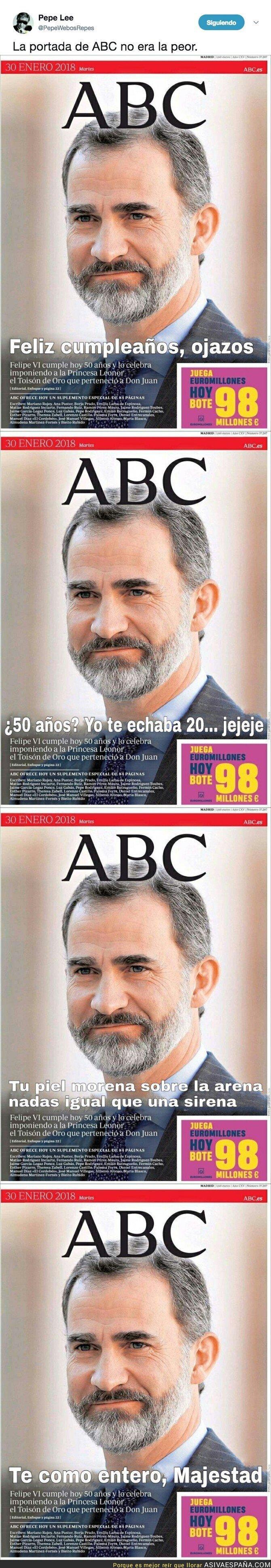 82204 - Las portadas que ABC hizo antes de la verdadera felicitación del Rey