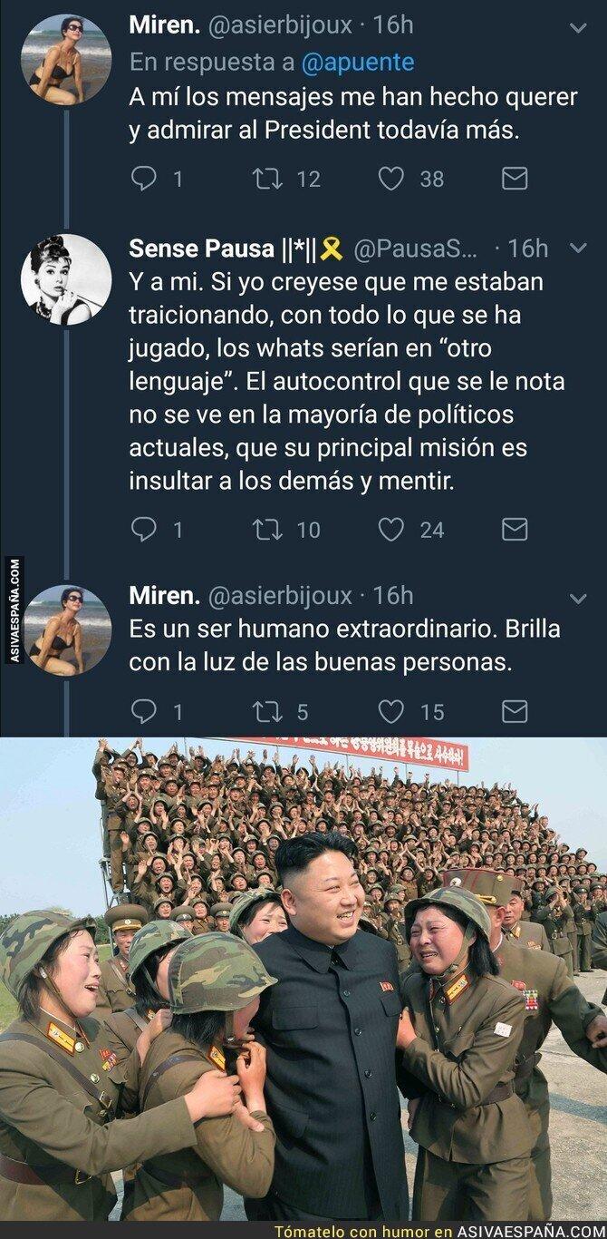 82293 - Adoran a Puigdemont a pesar de la cagada de los mensajes