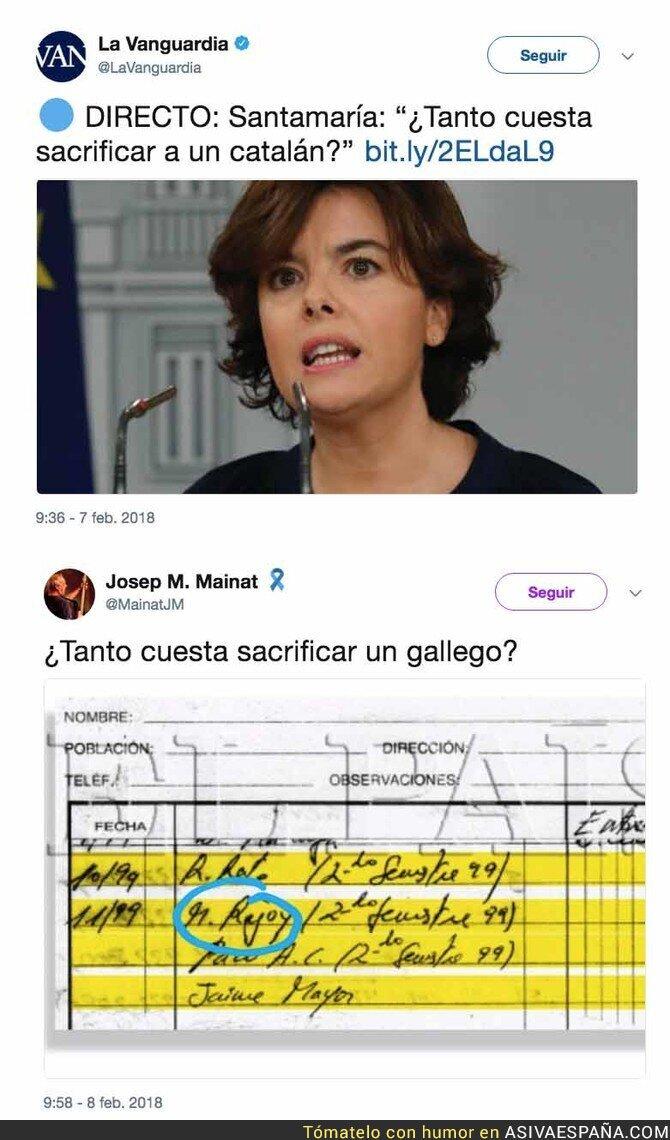 82532 - La gran respuesta de Josep M. Mainat a las palabras de Sáez de Santamaría de