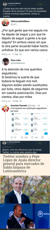 82735 - Pillan a Twitter censurando sin descaro cuentas de izquierdas