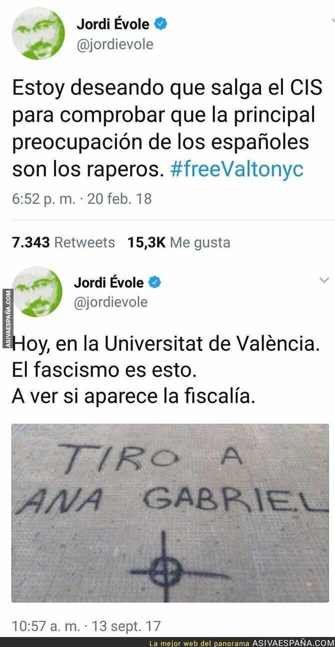 83305 - Jordi Évole se auto retrata en dos tuits suyos en pocos meses de diferencia