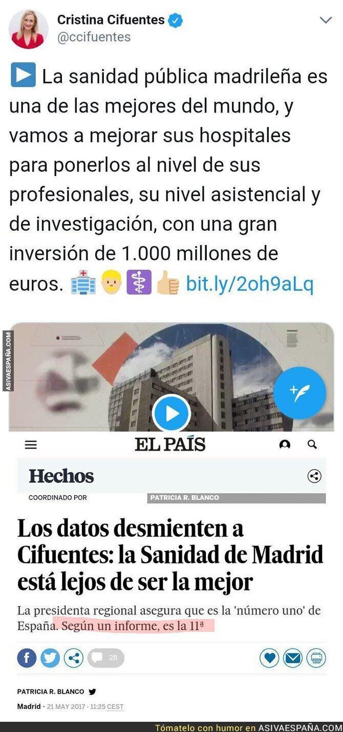 83477 - Cristina Cifuentes y las fake news que ella va propagando