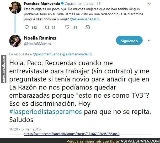 83776 - Francisco Marhuenda dice que la huelga feminista es 'pija' y recibe una respuesta épica