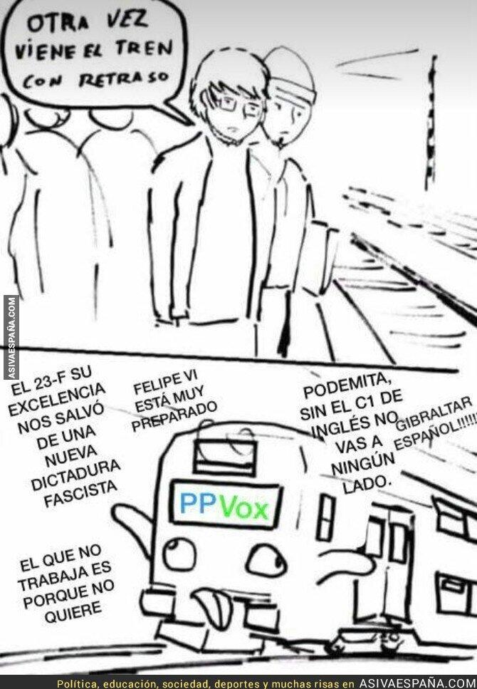 84832 - El tren con retraso