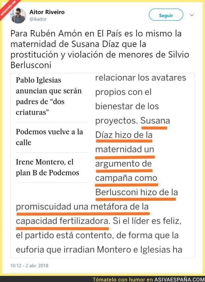 85006 - El periodismo de El Pais, comparando la prostitucioón de menores con el anuncio de un embarazo