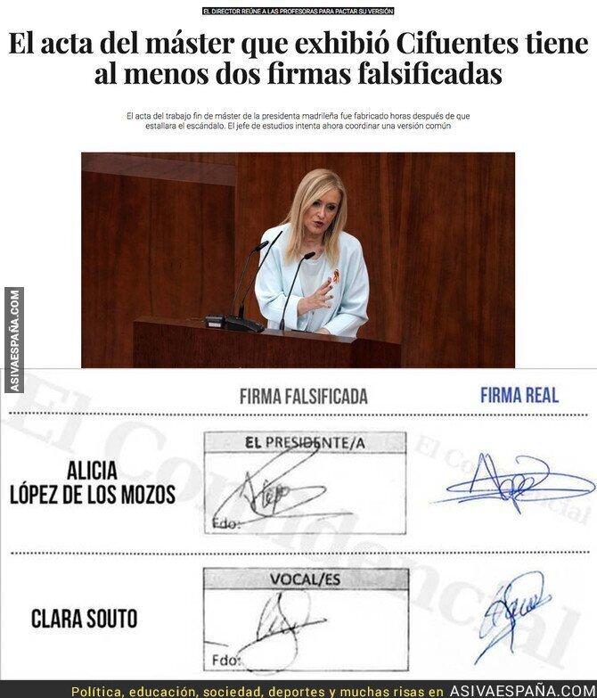 85086 - OFICIAL: Cristina Cifuentes se ríe de todo el mundo