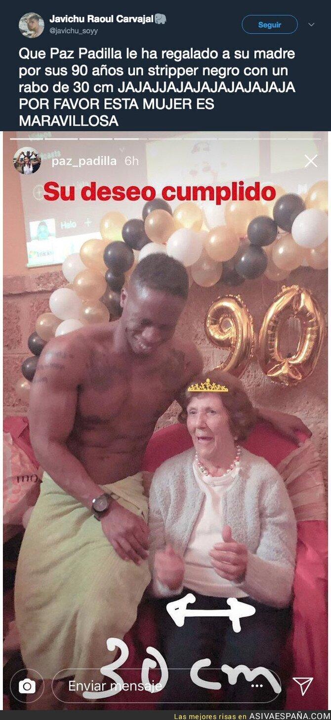 85588 - El maravilloso regalo de Paz Padilla a su madre por su 90 cumpleaños
