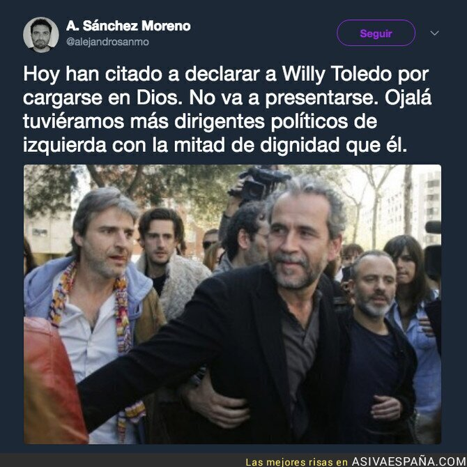 85687 - Mucha dignidad Willy Toledo