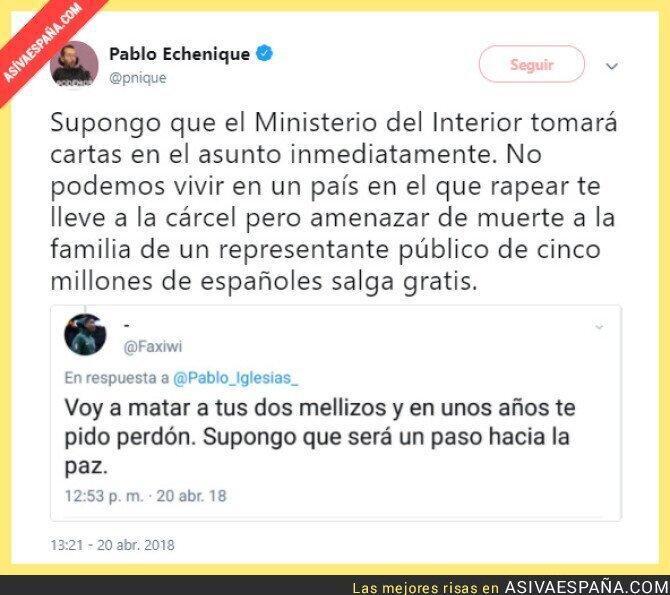 85789 - Las amenazas a Pablo Iglesias salen gratis