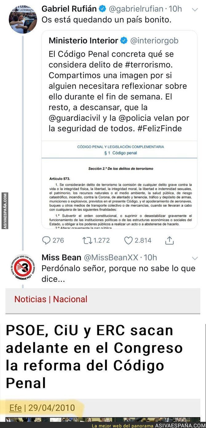 85808 - Cuando Gabriel Rufián habla más de la cuenta sin saber lo que votan en su partido