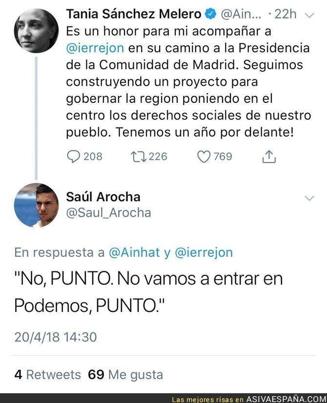 85840 - NOTA: Nunca fiarse de la palabra de Tania Sánchez