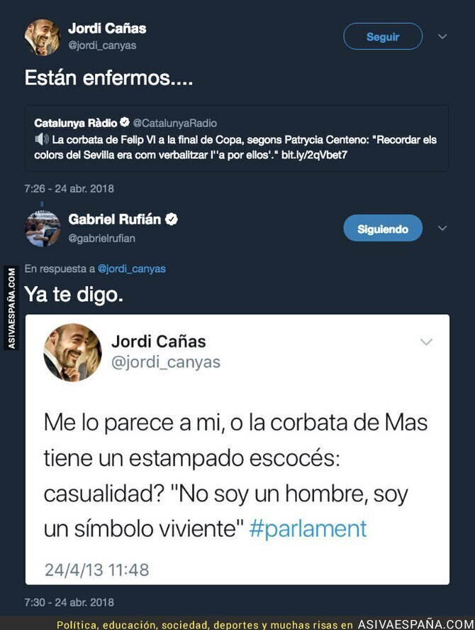 85953 - Gabriel Rufián le da hachazo de los que hacen época a Jordi Cañas tras faltar a los independentistas