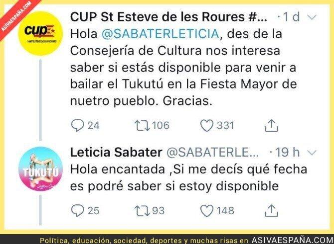 86001 - El pueblo ficticio de Sant Esteve de les Roures invita a Leticia Sabater y ella responde