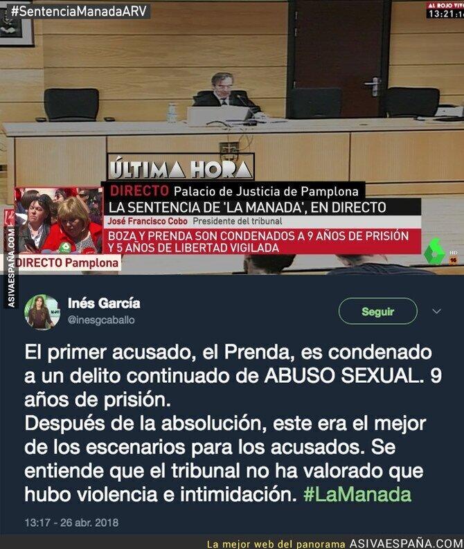 86022 - La Manada se va a la cárcel 9 años por abusos y no por violación