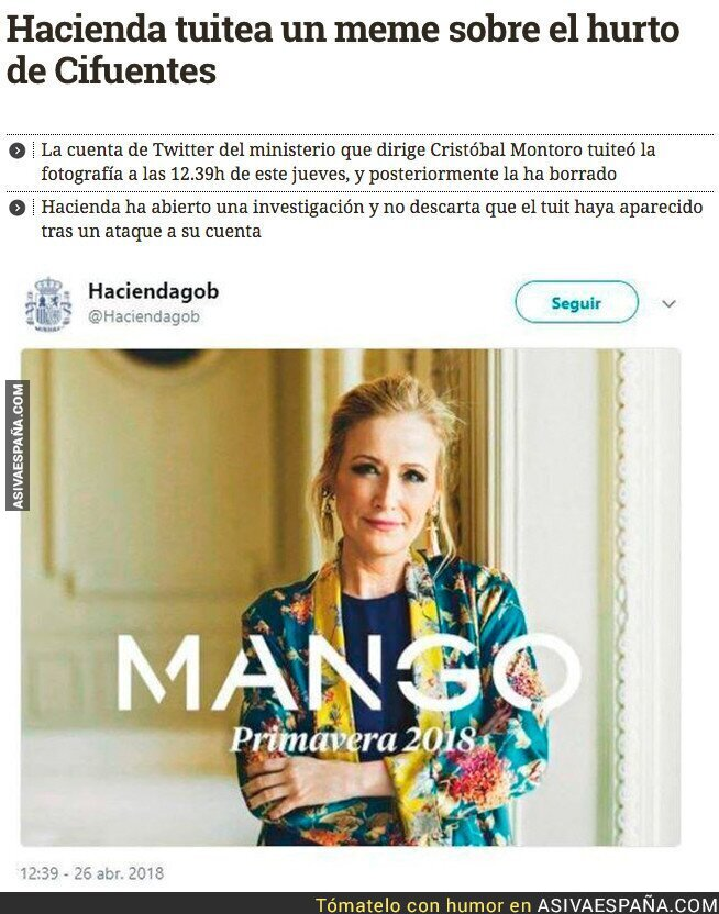86024 - Hacienda troleando a Cristina Cifuentes