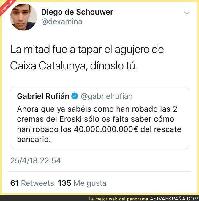 86031 - Gabriel Rufián habla sobre el rescate bancario y no tardan en callarle la boca