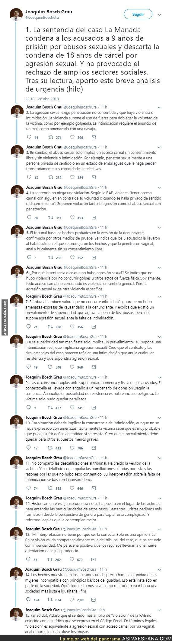 86045 - El magistrado Joaquim Bosch explica de la mejor forma posible la sentencia a La Manada