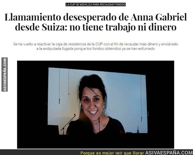 86053 - Anna Gabriel quiere que trabajes para mantenerla
