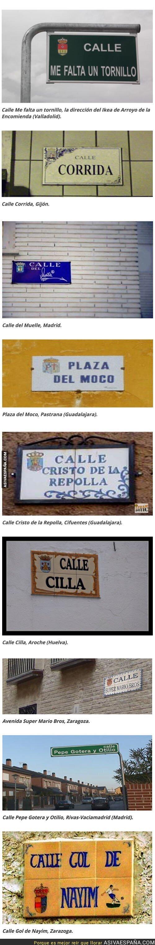 86058 - Recopilatorio de calles que encontramos por España con nombres muy curiosos