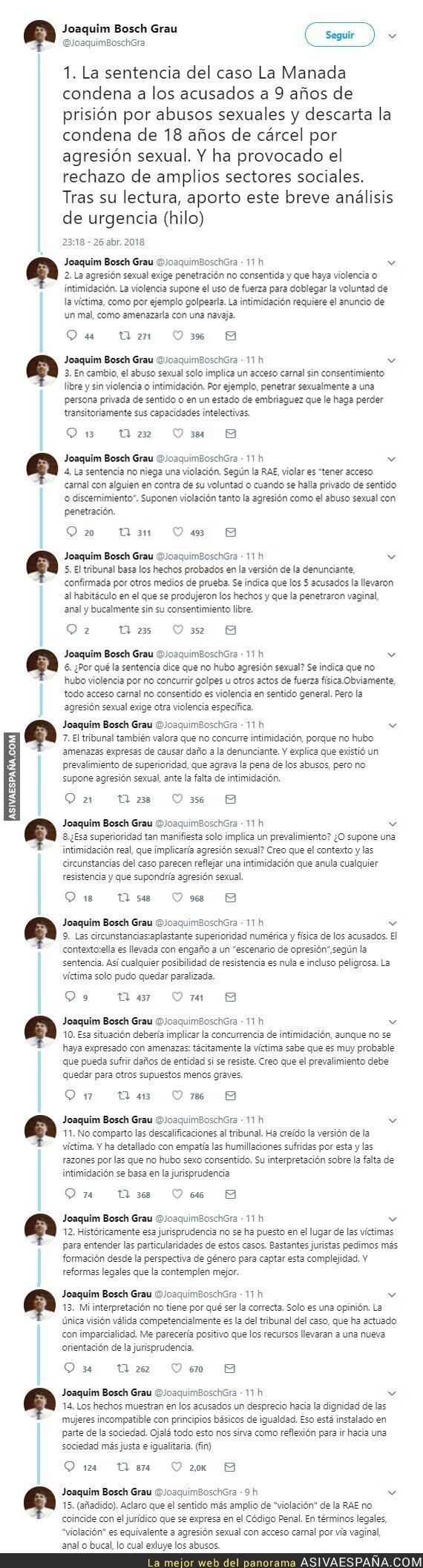 86076 - Joaquim Bosch sobre la sentencia de la La Manada