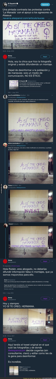 86214 - No, esta pintada no es cierta y 'El Español' la ha difundido como si fuese real