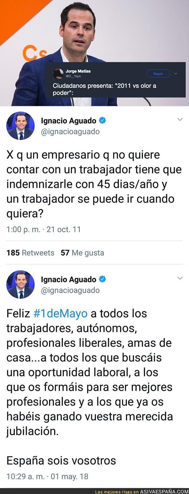 86225 - El brutal cambio de discurso de Ignacio Aguado (Ciudadanos) de 2011 a 2018 que no quiere que leas