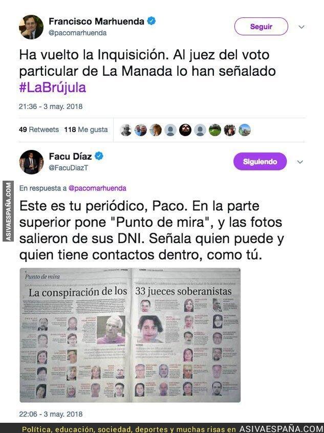 86342 - Francisco Marhuenda se queja de 'haber señalado' a un juez y esto hizo él en el pasado en su periódico
