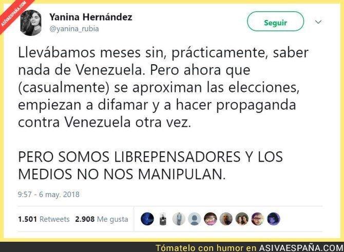 86503 - Venezuela vuelve, que ETA y Cataluña ya no dan más de si