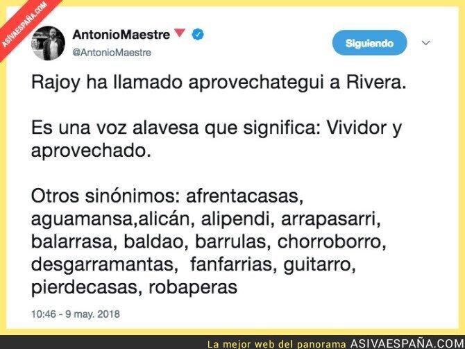 86577 - El nuevo mote de Albert Rivera se lo ha puesto Mariano Rajoy