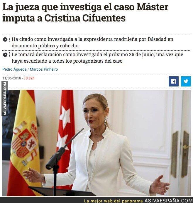86676 - La justicia llegó para Cristina Cifuentes