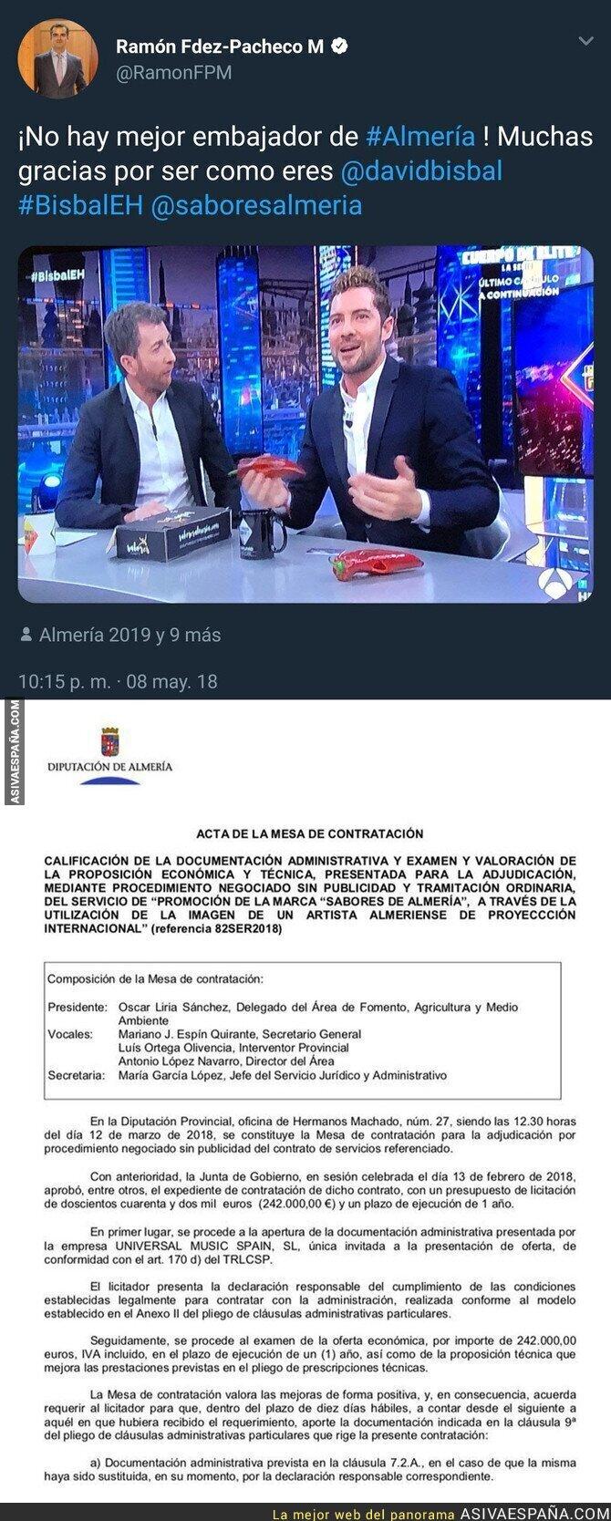 86773 - Polémica: Esto es lo que cobra cada año David Bisbal por promocionar Almería