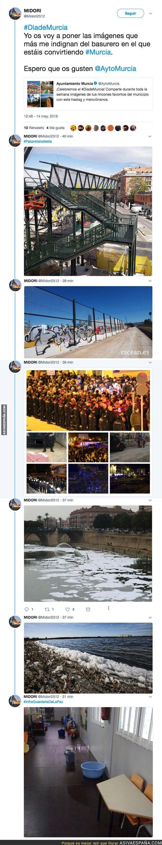 86800 - Las indignantes imágenes de Murcia que no enseñan los medios