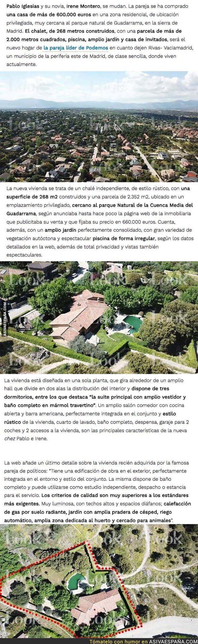 86903 - Pablo Iglesias e Irene Montero lucharán contra el capitalismo desde su nuevo chalet de 600.000€